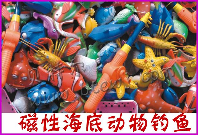 幼儿园角色游戏玩具磁性钓鱼丨幼儿园串珠积木丨幼儿园玩高清图片